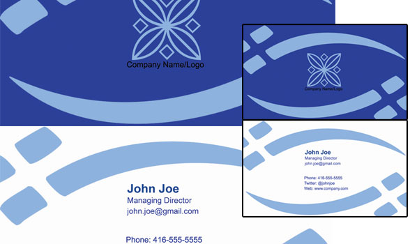 mock ups of front and back of a possible business card