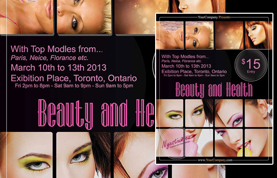 mock up of the beauty and health poster
