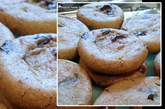 plated image of chocolate chip cookies